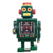 Vintage Wind Up CLOCKWORK Walking Robot TIN TOY Retro Collectible Gift w. Key