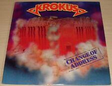 KROKUS CHANGE OF ADDRESS ALBUM 1986 CRC CLUB EDITION ARISTA RECORDS AL8-8402