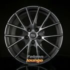 4 Alufelgen MSW MSW 25 Matt Titanium Full Polished 7x17 ET42 4x100 ML63,3 NEU