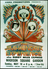 More details for jimi hendrix experience repro 18 may 1969 madison square garden concert poster