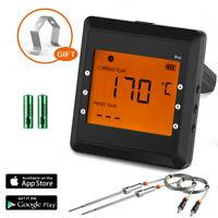 Digital Thermometer Bluetooth Meat Smoker Thermometer Probe BBQ Wireless WW