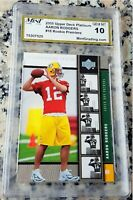 AARON RODGERS 2005 UD PLATINUM Rookie Card RC GEM MINT 10 Packers Superbowl MVP