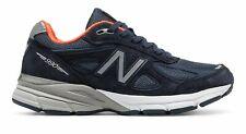 New Balance de mujer 990V4 Hecho en EE. UU. Zapatos Naranja Azul Marino Con