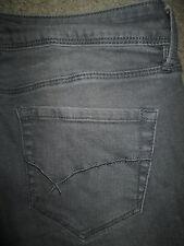 BULLHEAD BLACK Skinniest Stretch Embroidered Gray Denim Jeans Womens Size 1 x 28