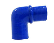 """Blue Universal 90° 2.0"""" to 3.5"""" Silicone Reinforced Elbow Reducer w/Hump by OBX"""