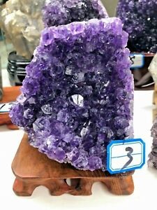 1.3lb Natural beauty quartz stone Amethyst ornaments treat healing