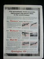 VTG 1960 Orig Magazine Ad Remington Smoothest Big Game Rifle Gun