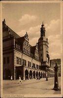 Leipzig Sachsen AK 1936 Partie Altes Rathaus Behörde Amt Gebäude Haus Menschen
