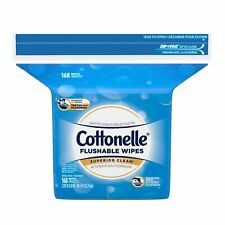 Cottonelle FreshFeel Flushable Wet Wipes Refill, 168 Wipes per Pack