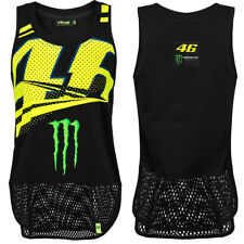 VALENTINO ROSSI VR46 LADIES BLACK YELLOW MONSTER ENERGY WOMENS MONZA TANK TOP