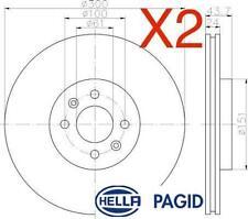 Front Brake Discs 300mm 54495PRO fits Renault GRAND SCENIC JM0/1_ 2.0