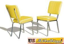 CO-25 JAUNE BEL AIR Meuble 2 chaises dîner de cuisine dans le style 50er ans