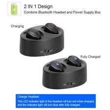 Mini TWS Twins True Bass Wireless Bluetooth Stereo Sport Headset Earphone Earbud