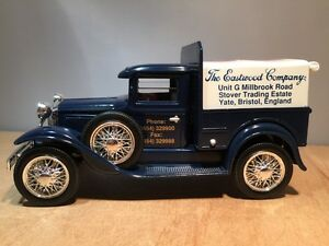 THE EASTWOOD COMPANY UK - DIECAST 1931 FORD PICKUP TRUCK COIN BANK by LIBERTY