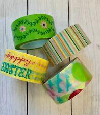 4 Rolls Easter Washi Tape set papercraft scrapbook planner supply Eggs Floral