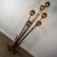 Banci Firence Steh Lampe Florentiner Goldblatt Boden Leuchte Floor Lamp 50-60er