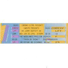 Jimmy Buffett Concert Ticket Stub Woodlands Tx 6/26/91 Margaritaville Outpost