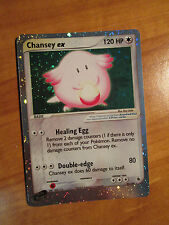 EX Pokemon CHANSEY EX Card RUBY and SAPPHIRE Set 96/109 Ultra Rare Holo TCG