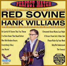 Perfect Match:Songs of Hank Williams-Sovine, Red  NEW