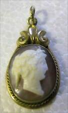 With Gold Frame Fine Antique Cameo Pendant