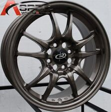 15 ROTA CIRCUIT 10 RIM 4X100 BRONZE WHEELS FITS 4 LUG CIVIC CRX INTEGRA DEL SO