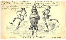 CPA Canada Fantaisie Patinage Poetry of Motion fantasy postcard