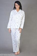 Ladies Short Sleeve Jersey Cotton Rich Cream Floral Nightdress Size 10 -36 10-12 Cream- Pink Flowers