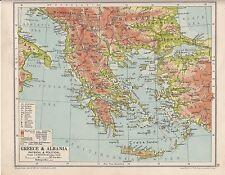 1931 Mappa ~ Grecia & Albania Creta Cyclades
