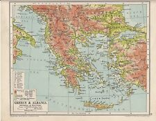 1931 MAP ~ GREECE & ALBANIA CRETE CYCLADES