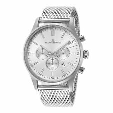 Jacques Lemans Men's Classic 1-2025G 42mm Silver Dial Stainless Steel Watch