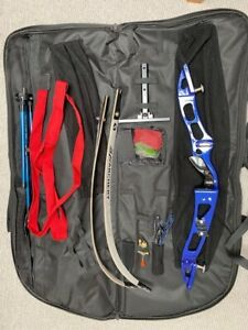 Recurve bow and arrow set, Left hand. Exc condition