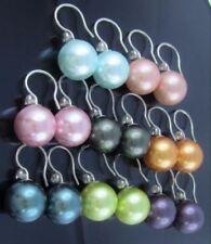 Ohrschmuck im Hänger-Stil aus Sterlingsilber mit echten Zirkon-Perlen