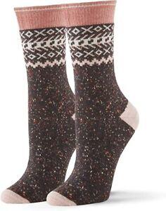 No Nonsense Women's Mid Calf Boot Socks Shoe Size 4-10 Multi Color 2 Pair XO's