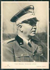 Militari Fascismo Pietro Badoglio Maresciallo D'Italia Foto FG cartolina XF7205