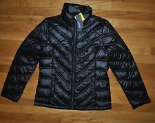 NWT KENNETH COLE REACTION Black Down Puffer Jacket Coat Size SMALL