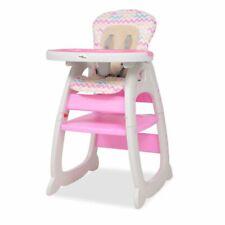 vidaXL Kinderstoel met Blad 3-in-1 Verstelbaar Roze Babystoel Stoel Hoge Stoel