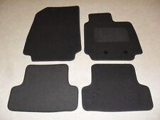 RENAULT CLIO 2009-2013 TAILORED CAR FLOOR MATS CARPET BLACK MAT ORANGE TRIM