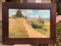 American California Landscape Oil Painting, signed, Harry B Lachman Dated 1909