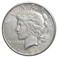 Choice AU/UNC 1923-S Peace Silver Dollar - 90% Silver