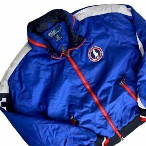 Polo Ralph Lauren Jacket Mens Large Team Olympic Lake Placid 2010 Puffer Bomber