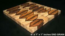 30 Pieces End Grain Crosscut Cocobolo 1 X 1 X 6 With Some White Wood