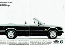 PUBLICITE ADVERTISING 115  1989  BMW  la 320i cabriolet  (2p) série 3