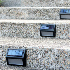 6 LED Solar Power Light Sensor Wall Light Garden Step Stair Deck Lights Lamp