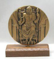 Statue of Zeus 2001 Calendar Medal Medallic Art Co. Bronze by Mark frost