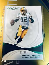 Aaron Rodgers 2019 Immaculate /20 Emerald SP FOTL Green Bay Packers