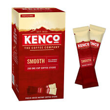 Kenco Smooth Instant Coffee Sticks (1 case = 4 boxes of 200 1.8g sticks)