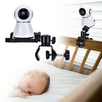 Baby Monitor Mount Bracket 360° Rotatable Adjustable Camera Clamp Holder Clip