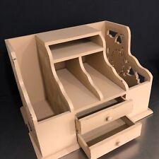 Desk Organizer Mail Sorter Wooden Storage Piece Pre Owned Office Organizer