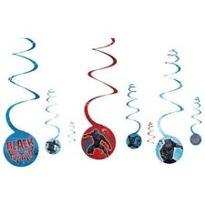 BLACK PANTHER HANGING SWIRL DECORATIONS (8) ~ Birthday Party Supplies Marvel MCU