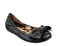 GUESS Ballet Flats Shoes Black Leather Bow Size 7 NIB $90